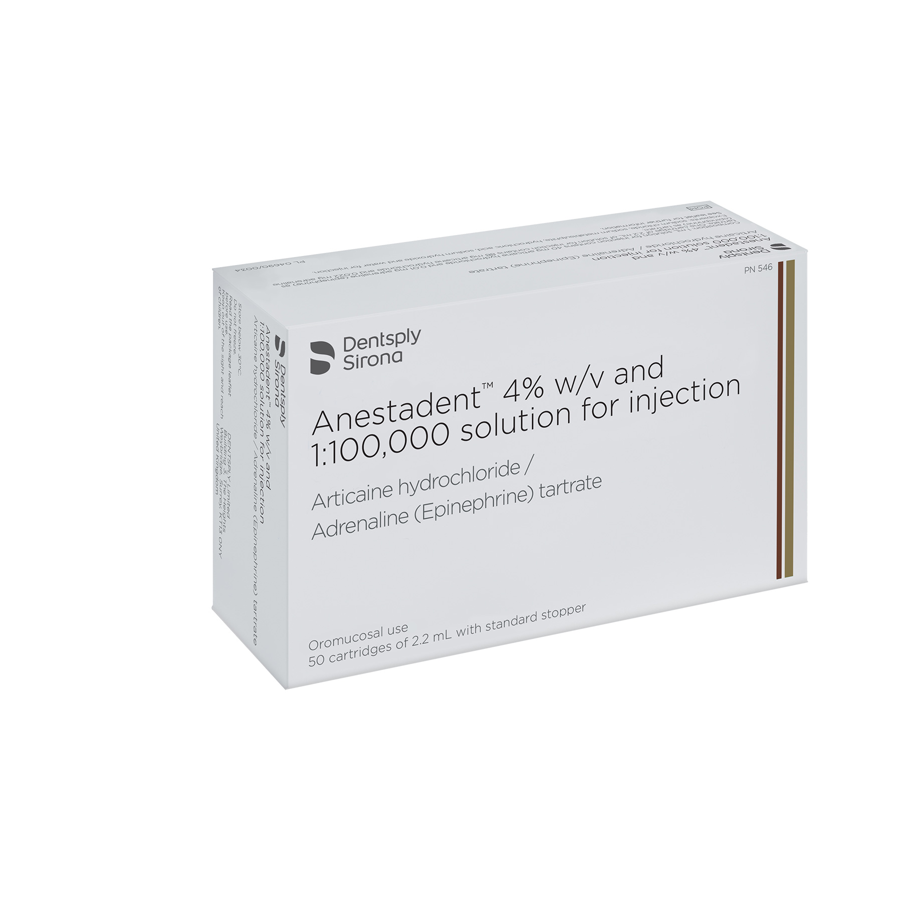 Anestadent 4% w/v and 1:100,000 Solution for Injection