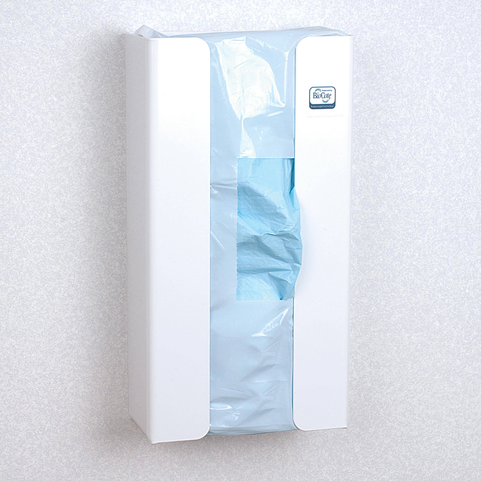 Antimicrobial Bib Dispenser for Bib with Collection Pocket