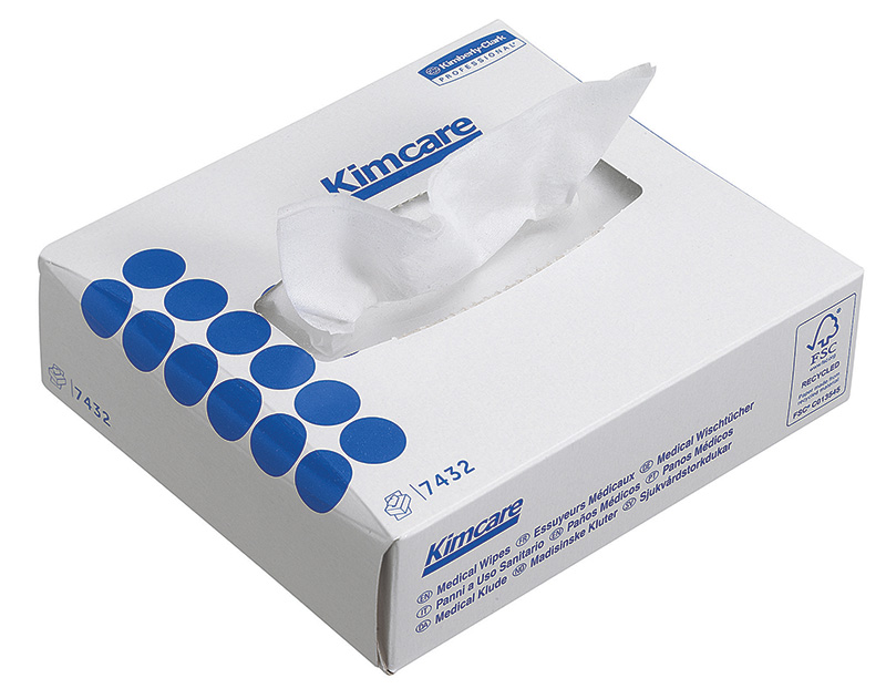 Kimcare Medical Wipes (7432) - 2 ply, White