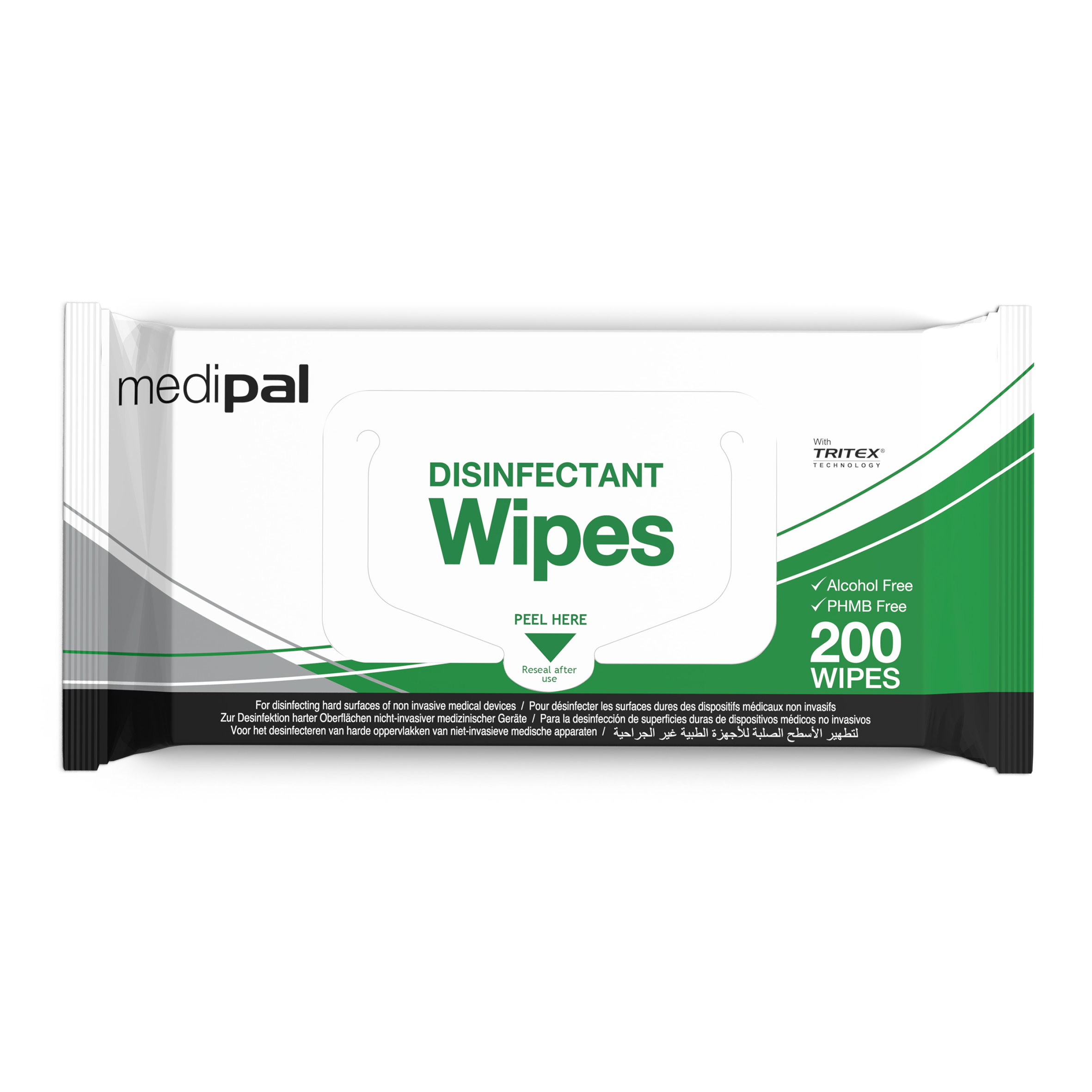 Medipal 3in1 Disinf. F/Wrap Wipes Pack 200