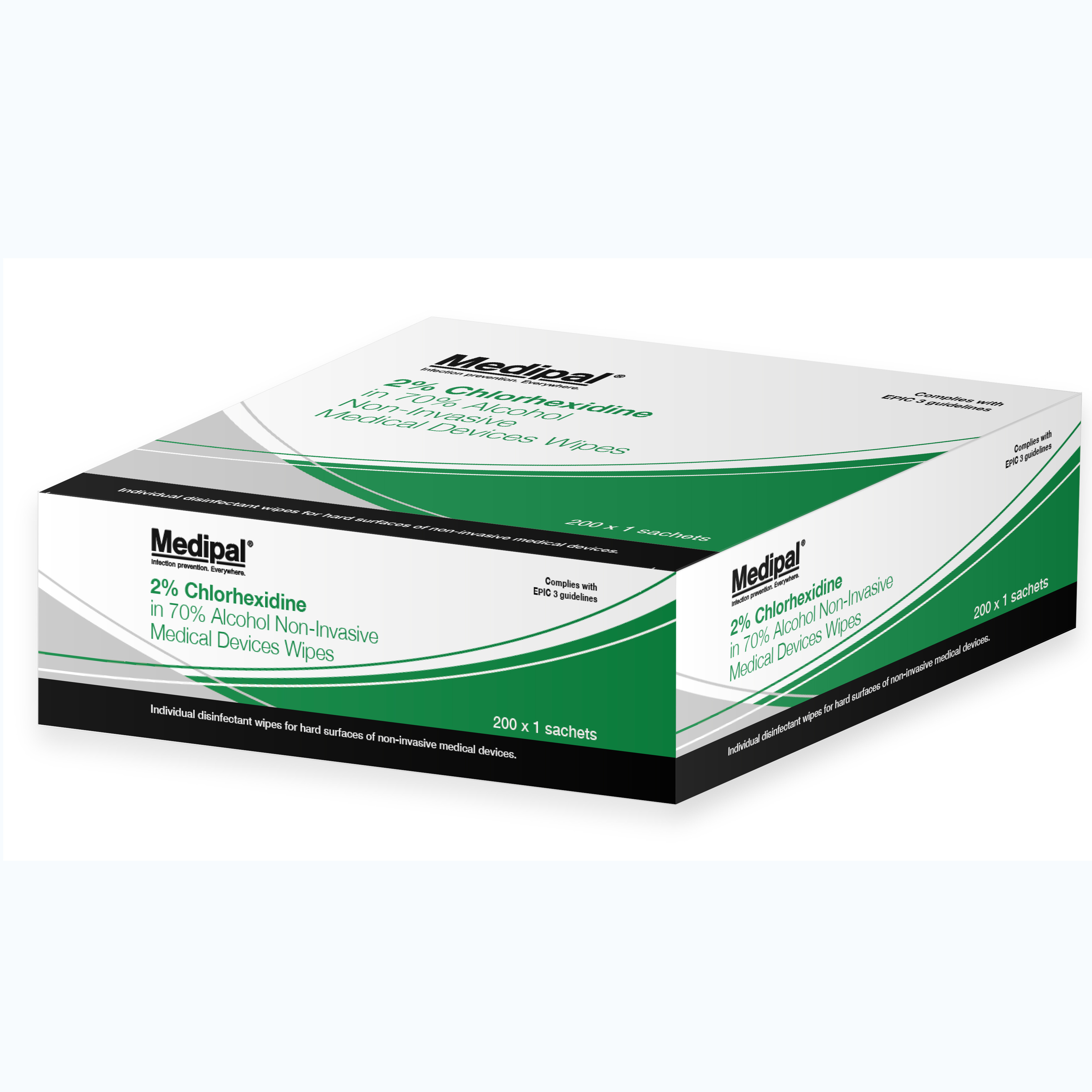 Medipal Chlorhex. Surface Wipes Bx200