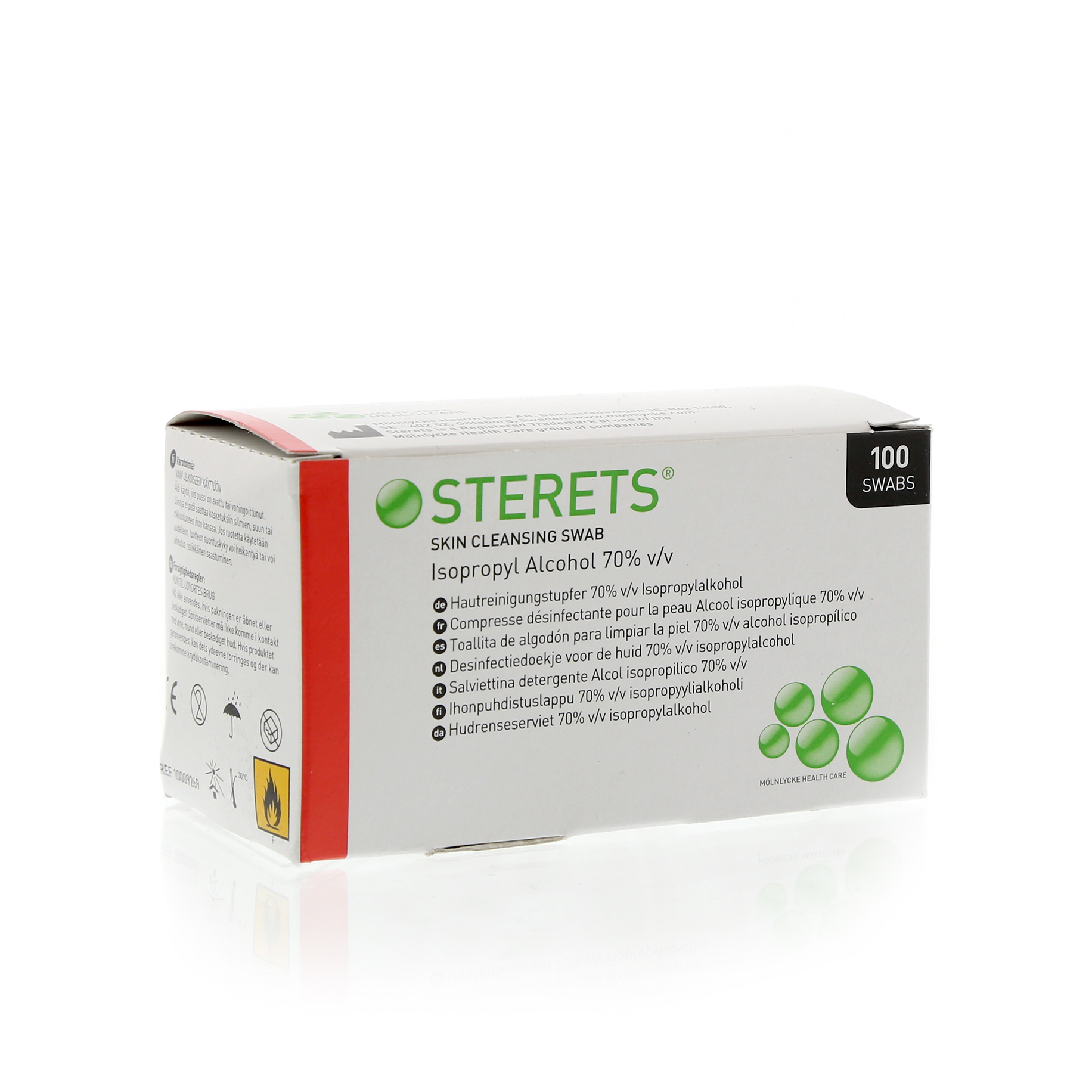 Sterets Pre-Injection Swabs Pack 100