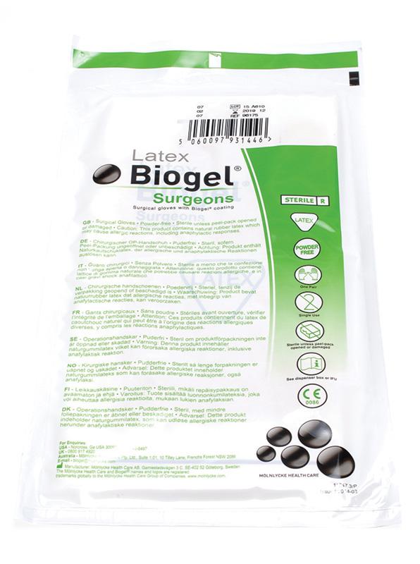 Biogel Surgeons Gloves Size 8 Box 50
