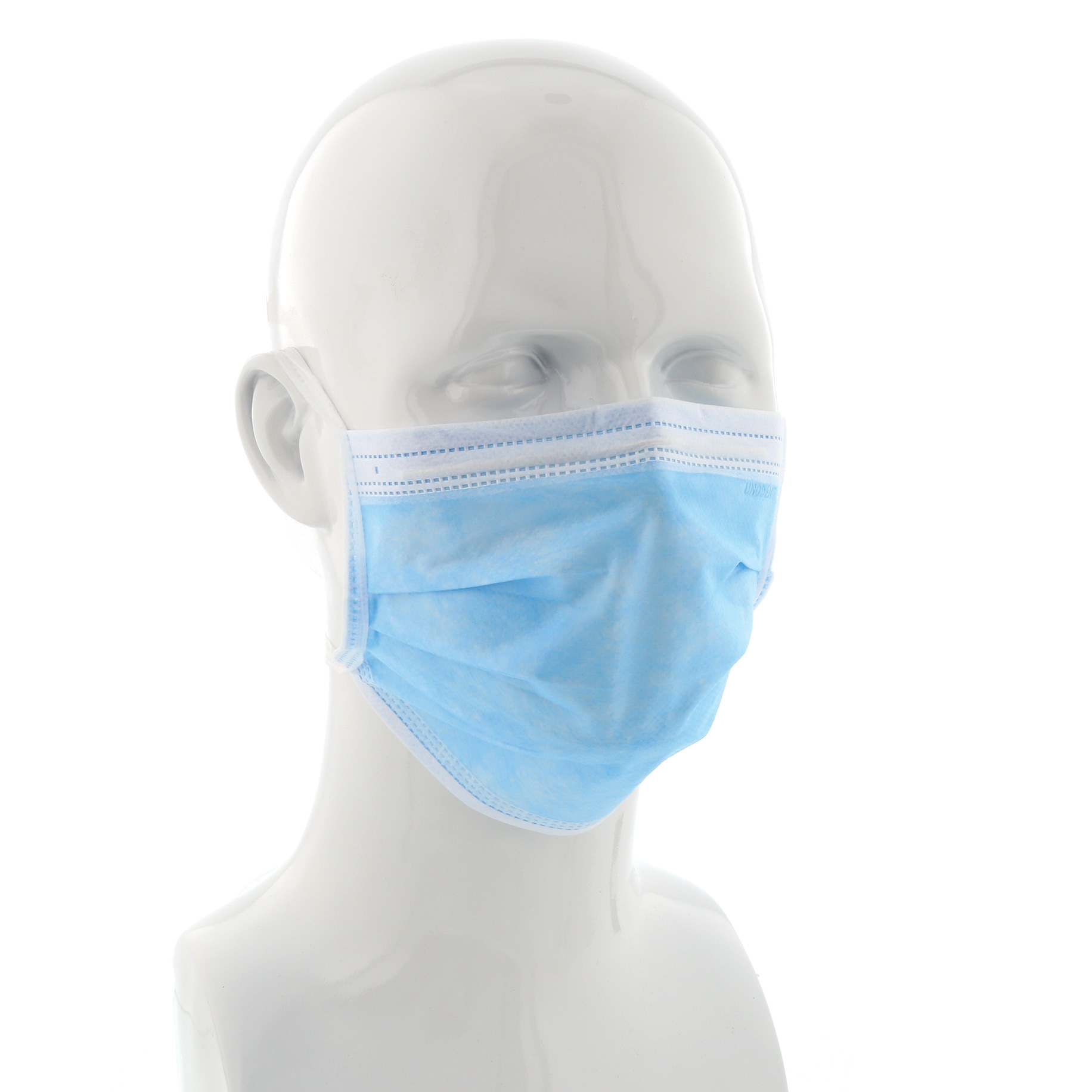 Tie-On Face Mask Blue Box 50