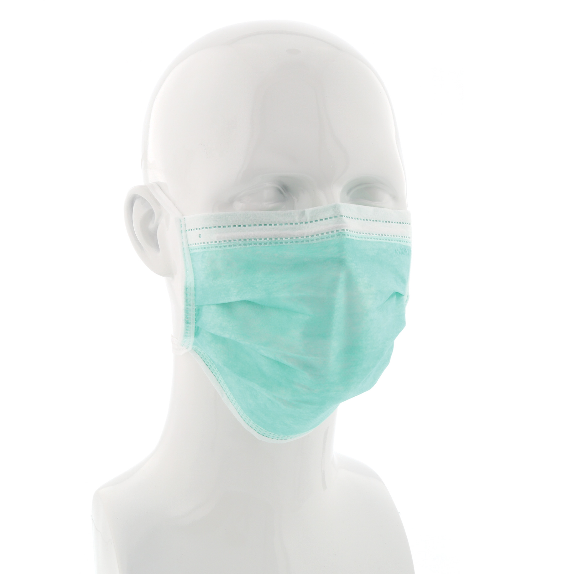 Tie-On Face Mask Green Box 50