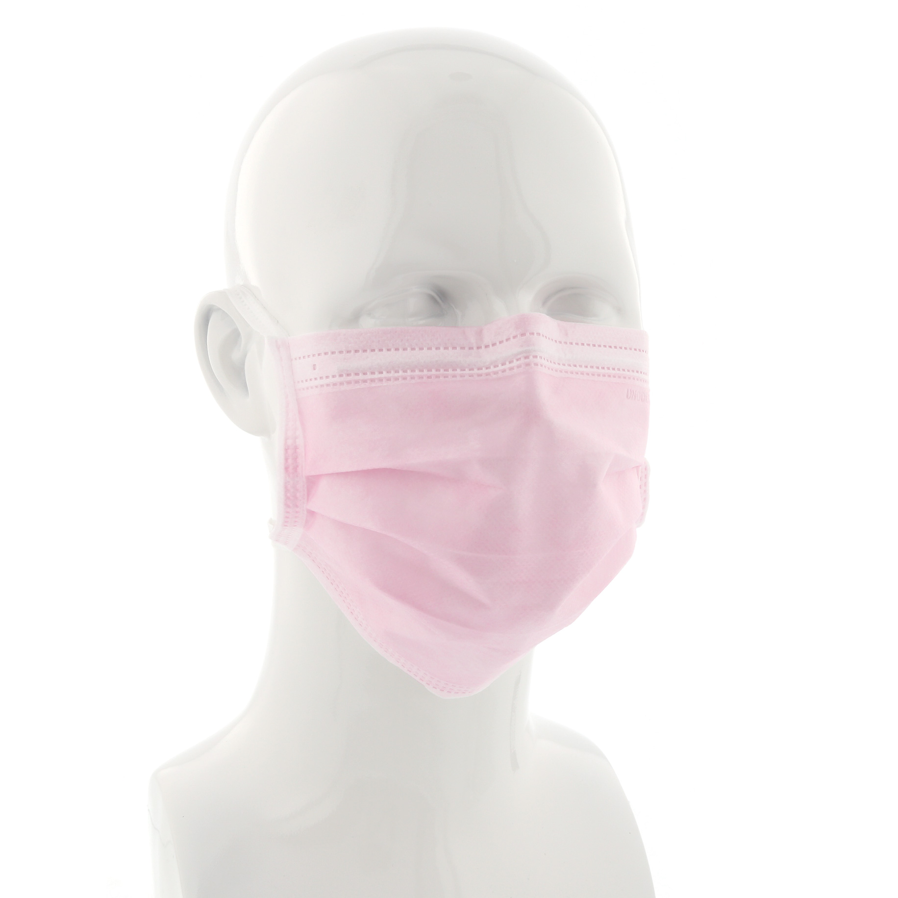 Tie-On Face Mask Pink Box 50