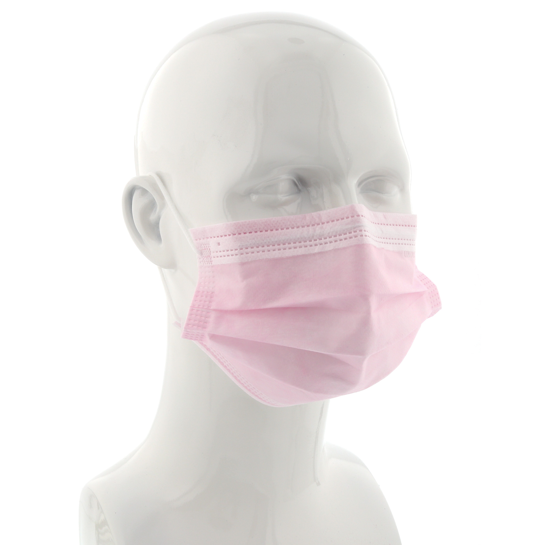 Ear-Loop Face Mask Pink Box 50