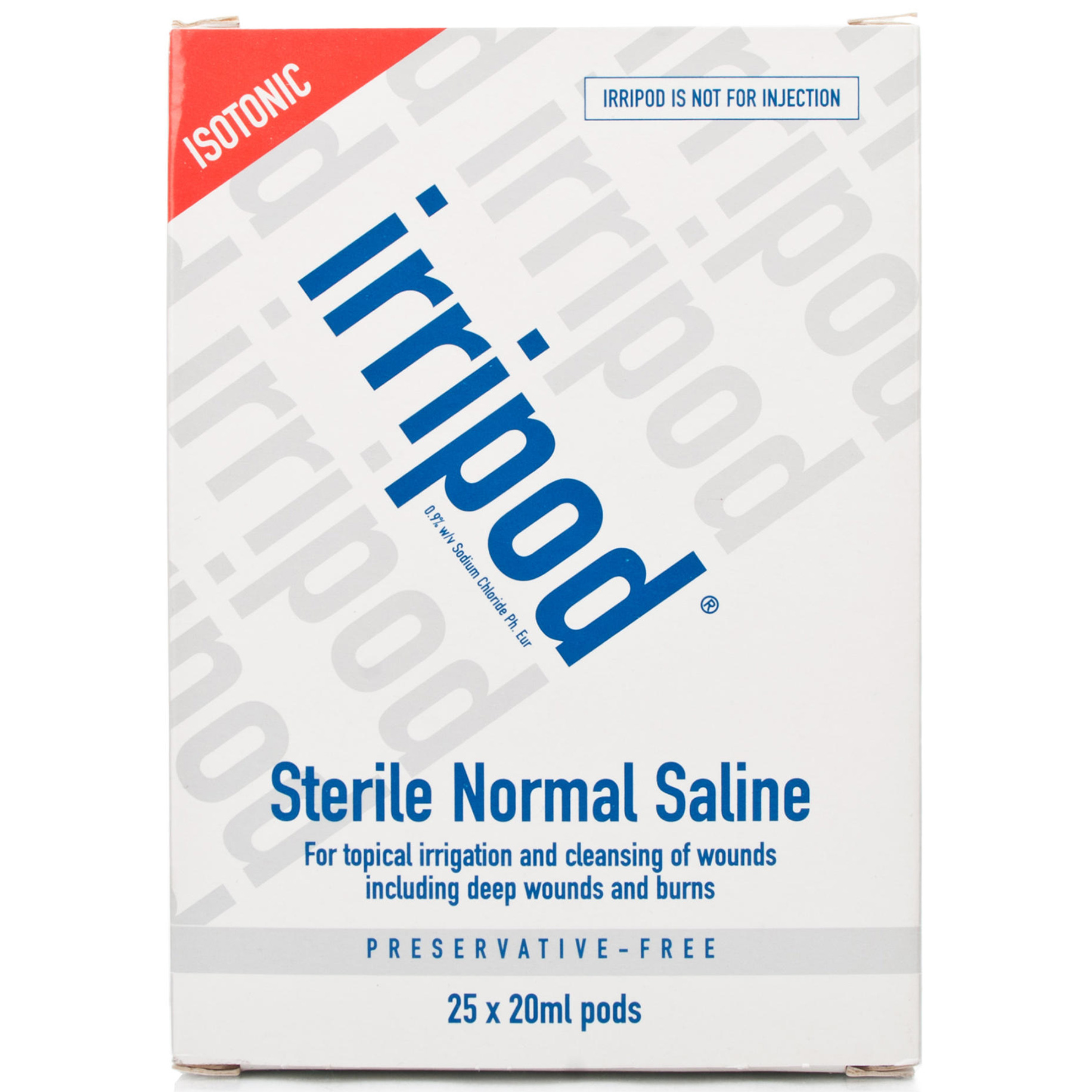 Irripod Saline Solution Pods 25 x 20ml Pack 25