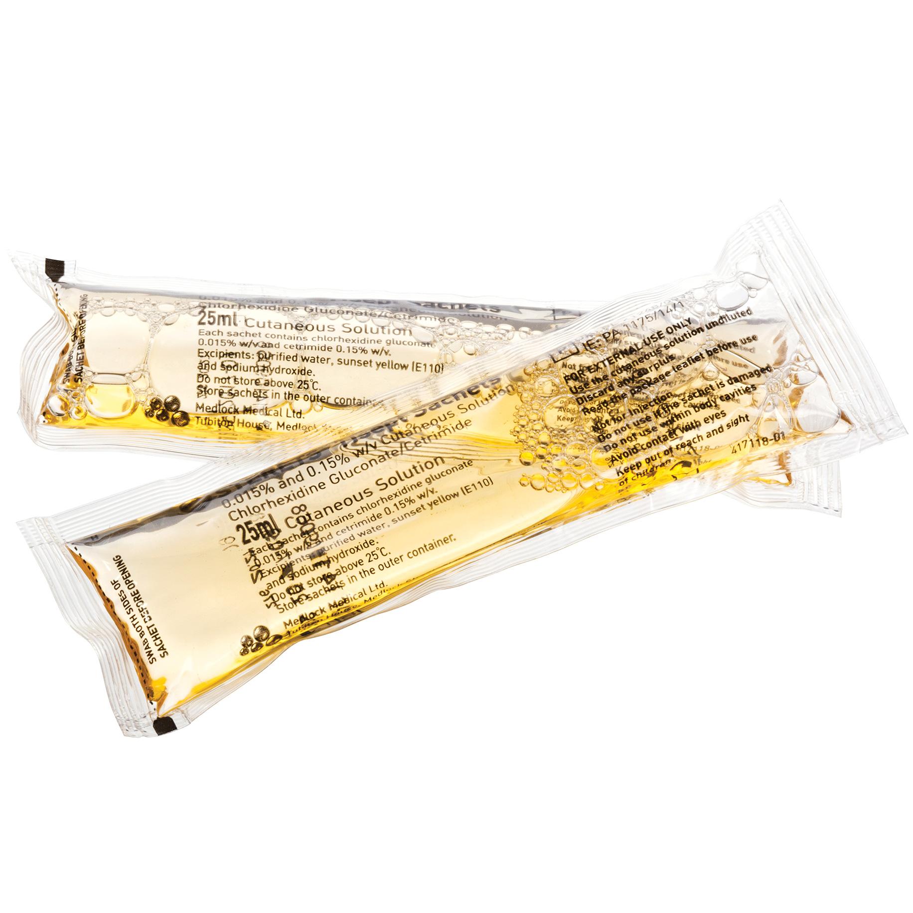 Tisept Skin Disinfectant Sachets 25ml Pack 25