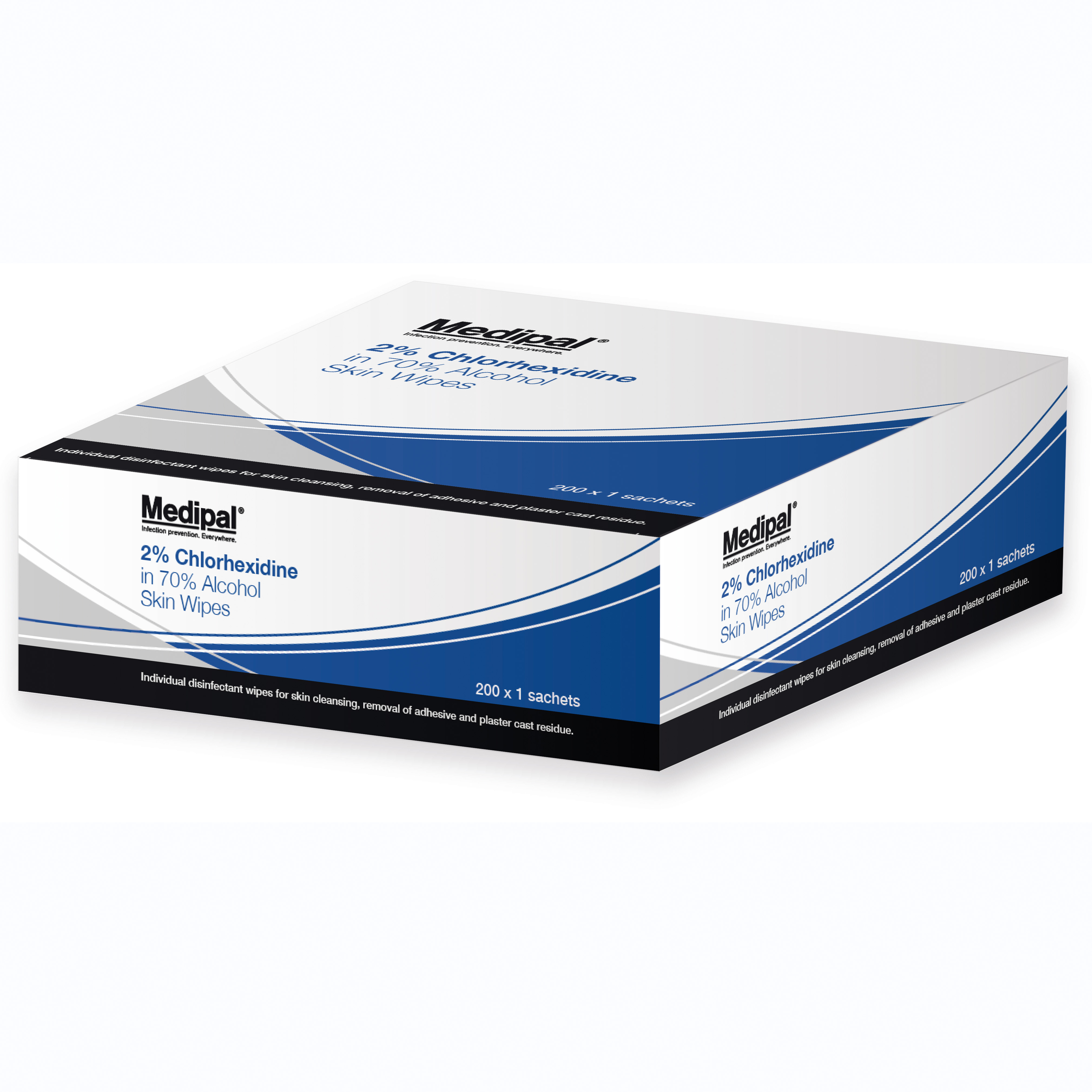 Medipal Chlorhexidine Skin Wipes Bx200