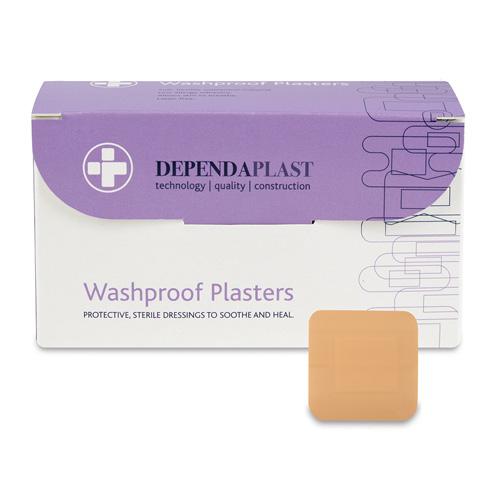 Waterproof Plasters 4cm x 4cm Pack 100