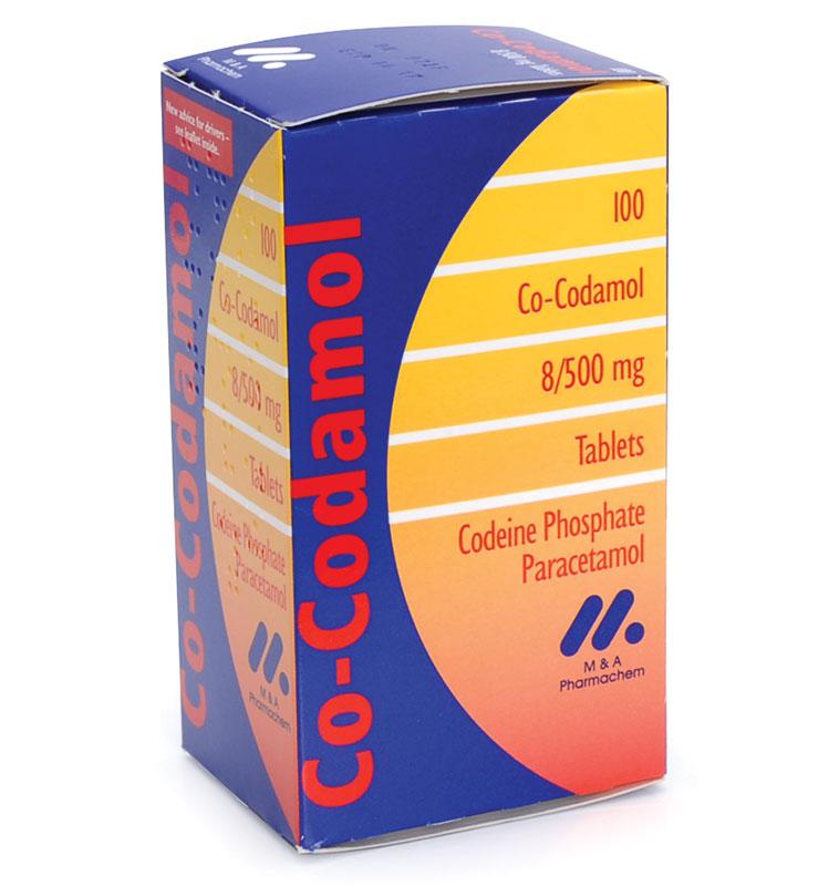 Co-Codamol Tablets 8mg/500mg Pack 100
