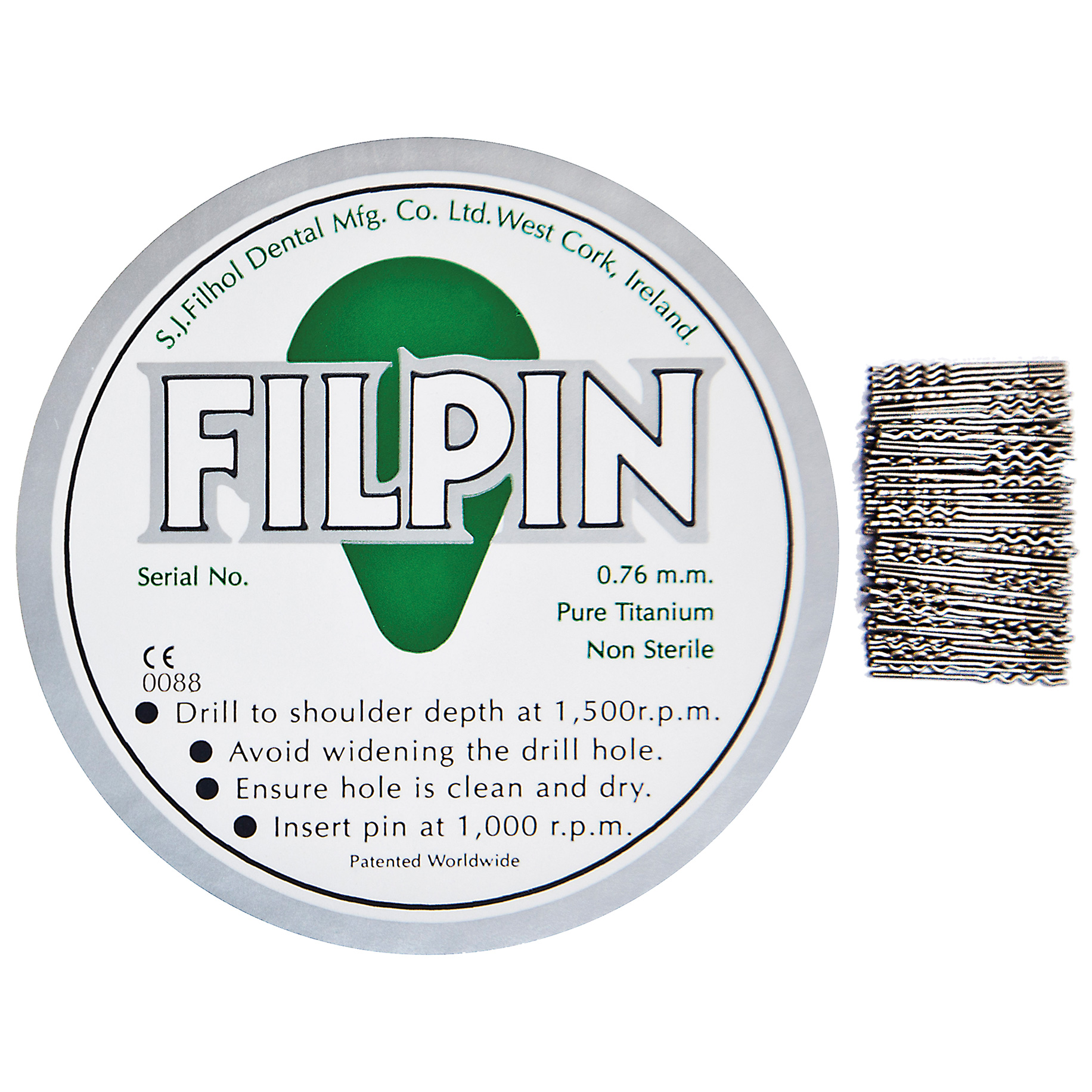 Filpin Spare Inserts 0.76mm Green