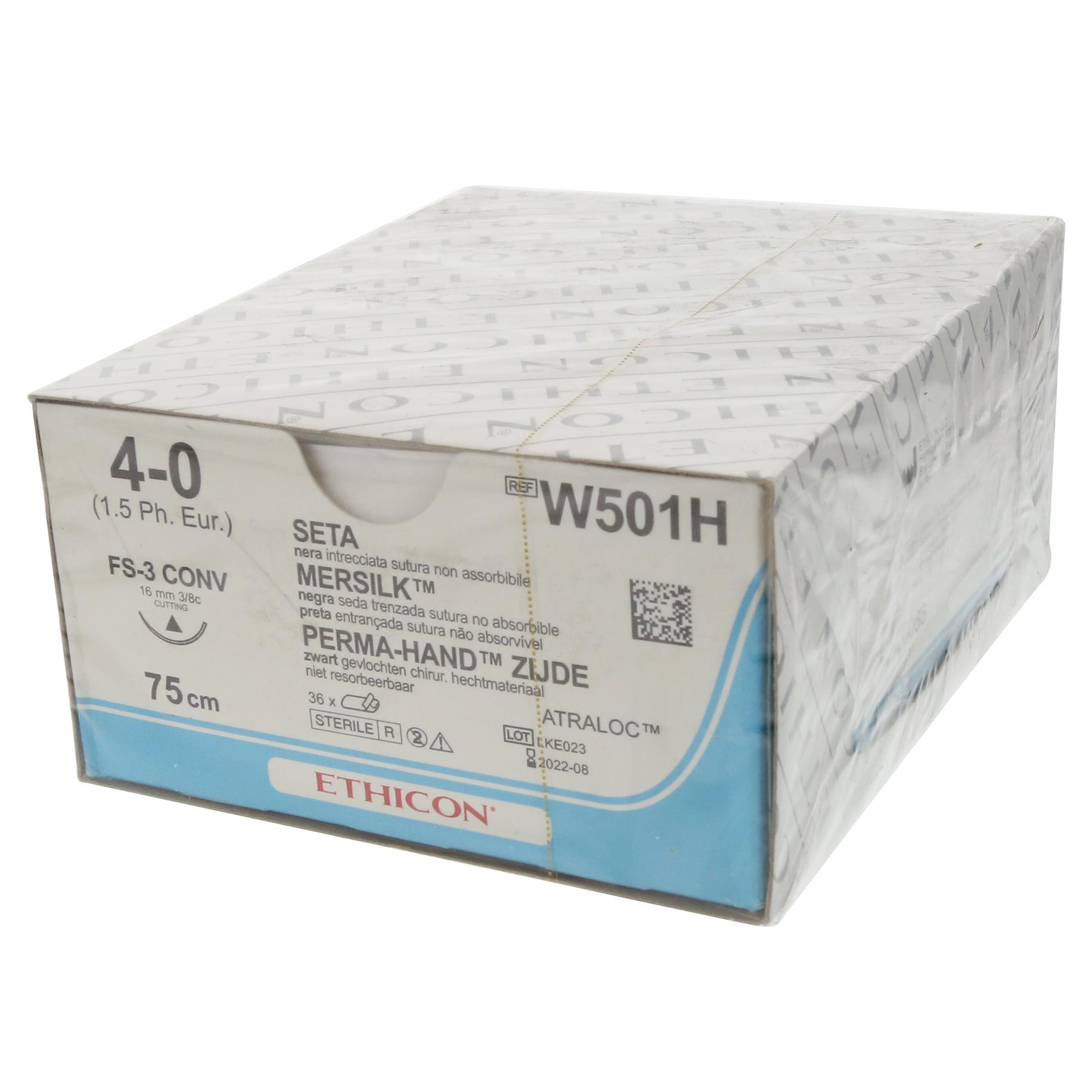 Mersilk Suture W501H 4/0 Gauge Box 36