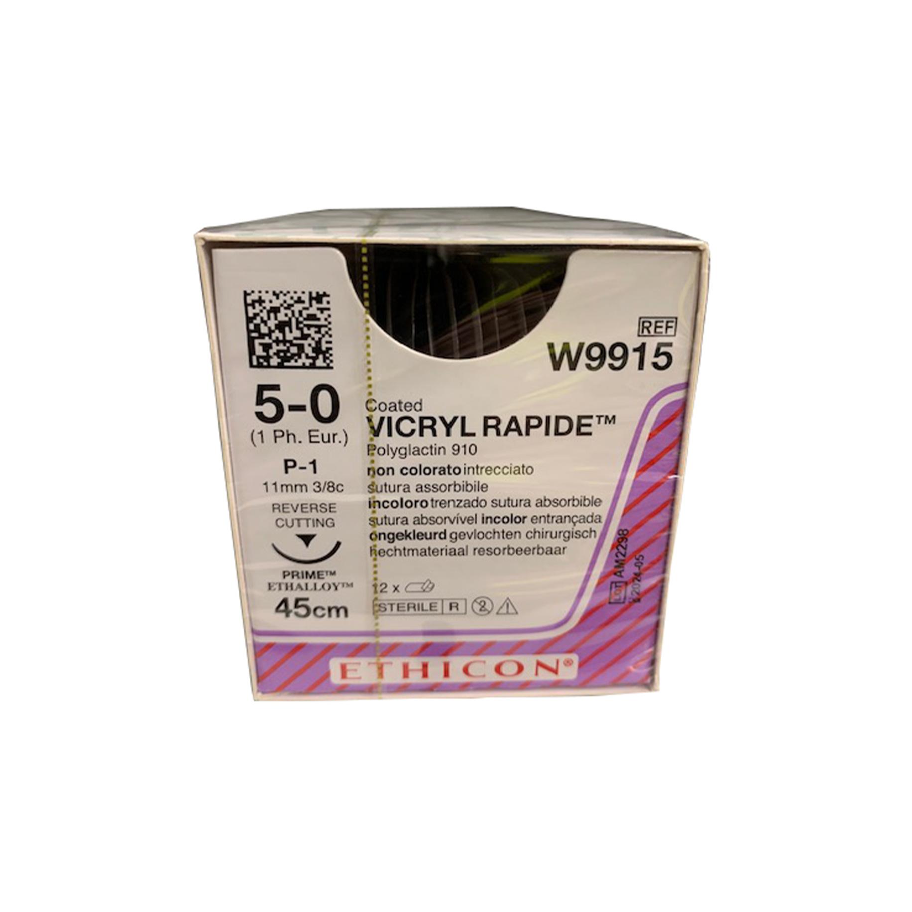 Vicryl Rapide Suture W9915 5/0 Gauge Box 12